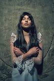 Μάγισσα από crypt στο νεκροταφείο Στοκ Εικόνες