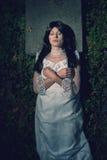 Μάγισσα από crypt στο νεκροταφείο Στοκ φωτογραφία με δικαίωμα ελεύθερης χρήσης