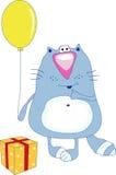 μάγισσα γατών μπαλονιών διανυσματική απεικόνιση
