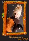 μάγισσα πορτρέτου Στοκ Φωτογραφίες