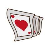 Μάγος καρτών κινούμενων σχεδίων pocker παίζοντας Στοκ Φωτογραφίες