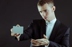 Μάγος με τις κάρτες Στοκ Εικόνα