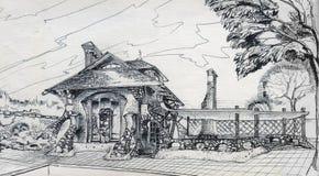 Μάγος σπιτιών ή ένα χαριτωμένο γιγαντιαίο Hagrid (σπίτι κήπων) Στοκ φωτογραφία με δικαίωμα ελεύθερης χρήσης