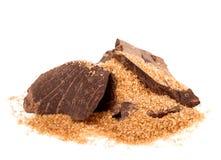 Μάζα κακάου με την καφετιά ζάχαρη Στοκ φωτογραφία με δικαίωμα ελεύθερης χρήσης
