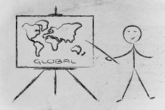 Μάθετε ή αποφασίστε πώς να πάει σφαιρικός Στοκ εικόνες με δικαίωμα ελεύθερης χρήσης