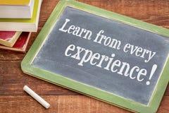Μάθετε από κάθε εμπειρία στοκ φωτογραφία