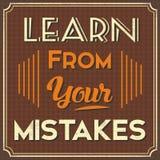 Μάθετε από τα λάθη σας Στοκ Εικόνα