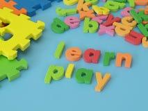 Μάθετε και παίξτε Στοκ εικόνες με δικαίωμα ελεύθερης χρήσης