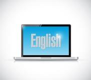Μάθετε τα αγγλικά στο σχέδιο απεικόνισης υπολογιστών σας ελεύθερη απεικόνιση δικαιώματος