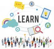 Μάθετε την έννοια γνώσης δραστηριότητας μελέτης εκπαίδευσης στοκ εικόνα με δικαίωμα ελεύθερης χρήσης