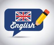 Μάθετε το αγγλικό σχέδιο ελεύθερη απεικόνιση δικαιώματος