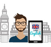 Μάθετε το αγγλικό σχέδιο διανυσματική απεικόνιση
