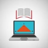 Μάθετε το σε απευθείας σύνδεση βιβλίο σχολικής γεωμετρίας Στοκ Φωτογραφία