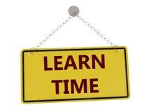 Μάθετε το χρονικό σημάδι διανυσματική απεικόνιση