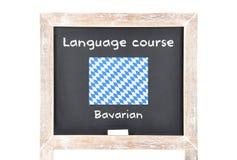 Μάθημα γλώσσας με τη σημαία εν πλω Στοκ φωτογραφίες με δικαίωμα ελεύθερης χρήσης