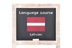 Μάθημα γλώσσας με τη σημαία εν πλω Στοκ εικόνες με δικαίωμα ελεύθερης χρήσης