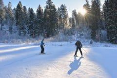 Μάθημα σκι Στοκ Εικόνες
