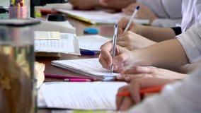 Μάθημα σπουδαστών απόθεμα βίντεο