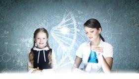 Μάθημα χημείας Στοκ Εικόνες