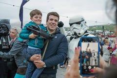 Μάιος το τέταρτο είναι με σας φεστιβάλ του Star Wars Στοκ Φωτογραφίες