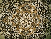 Μάλλινος φορεμένος τάπητας στο πάτωμα σπιτιών πρότυπο ριγωτό στοκ εικόνες
