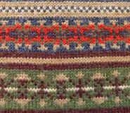 Μάλλινο πλεκτό νορβηγικό ύφος διακοσμήσεων Στοκ φωτογραφία με δικαίωμα ελεύθερης χρήσης