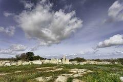 Μάλτα, δυτικός ναός Hagar Quim Στοκ φωτογραφία με δικαίωμα ελεύθερης χρήσης
