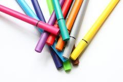 Μάνδρα χρώματος Σωρός με τις μάνδρες χρώματος που απομονώνονται στο άσπρο υπόβαθρο Σύσταση υποβάθρου χρώματος, δραστηριότητα πίλη Στοκ φωτογραφία με δικαίωμα ελεύθερης χρήσης