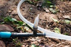 Μάνικα νερού με ένα ψαλίδισμα στοκ φωτογραφίες με δικαίωμα ελεύθερης χρήσης
