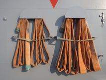 Μάνικα πυρκαγιάς από το σκάφος μάχης Στοκ Φωτογραφία