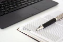 Μάνδρα, ημερολόγιο, σημειωματάριο, συσκευή, συσκευή, lap-top, Στοκ Εικόνες