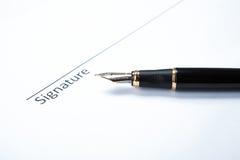Μάνδρα και υπογραφή στοκ εικόνα με δικαίωμα ελεύθερης χρήσης