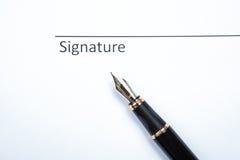Μάνδρα και υπογραφή στοκ εικόνες