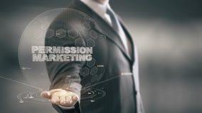 Μάρκετινγκ άδειας με την έννοια επιχειρηματιών ολογραμμάτων απεικόνιση αποθεμάτων