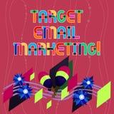 Μάρκετινγκ ηλεκτρονικού ταχυδρομείου στόχων γραψίματος κειμένων γραφής Η έννοια που σημαίνει τη διαφήμιση στέλνεται σε έναν κατάλ στοκ φωτογραφίες με δικαίωμα ελεύθερης χρήσης