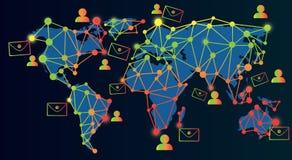 Μάρκετινγκ ηλεκτρονικού ταχυδρομείου τεχνολογίας και δίκτυο επικοινωνιών Στοκ εικόνες με δικαίωμα ελεύθερης χρήσης