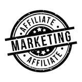 Μάρκετινγκ θυγατρικών γύρω από το μαύρο διακριτικό γραμματοσήμων grunge στοκ φωτογραφία με δικαίωμα ελεύθερης χρήσης