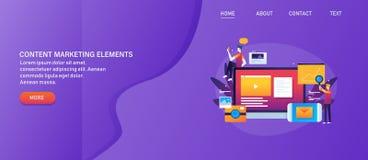Μάρκετινγκ περιεχομένου, ψηφιακό μάρκετινγκ ηλεκτρονικού ταχυδρομείου μάρκετινγκ ειδικό, κινητό, βίντεο, analytics Ιστού, κοινωνι απεικόνιση αποθεμάτων