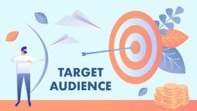 Μάρκετινγκ στόχων, διανυσματική απεικόνιση ακροατηρίων διανυσματική απεικόνιση