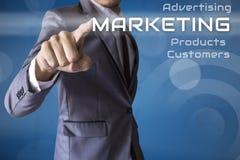 Μάρκετινγκ Τύπου επιχειρηματιών της επιχείρησης εννοιολογικής Στοκ Εικόνα