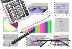 Μάρκετινγκ & χρηματιστική στατιστική με το γραφικό διάγραμμα Στοκ φωτογραφίες με δικαίωμα ελεύθερης χρήσης