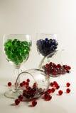 Μάρμαρα γυαλιού κρασιού Στοκ φωτογραφία με δικαίωμα ελεύθερης χρήσης