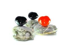 Μάρμαρο και Zen Stone καρδιών Στοκ Εικόνες