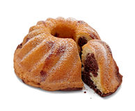 μάρμαρο σοκολάτας κέικ Στοκ Εικόνες