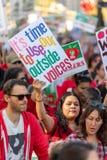 Μάρτιος για την εκπαίδευση Λος Άντζελες στοκ εικόνες με δικαίωμα ελεύθερης χρήσης