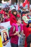 Μάρτιος για την εκπαίδευση Λος Άντζελες στοκ εικόνα με δικαίωμα ελεύθερης χρήσης