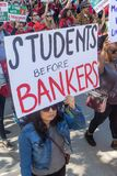 Μάρτιος για την εκπαίδευση Λος Άντζελες στοκ φωτογραφίες με δικαίωμα ελεύθερης χρήσης