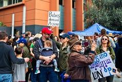 Μάρτιος για τη μετακίνηση ` s Μάρτιος ζωών μας στο στο κέντρο της πόλης Λος Άντζελες Στοκ εικόνες με δικαίωμα ελεύθερης χρήσης