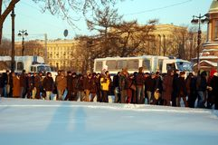 Μάρτιος της ελευθερίας στη Αγία Πετρούπολη Στοκ Εικόνες