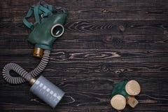 Μάσκα αερίου και αναπνευστική συσκευή Στοκ φωτογραφίες με δικαίωμα ελεύθερης χρήσης